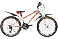 "Купить - велосипед  Premier Pirate 24 11"" RS35 белый с красн-зел-черн"