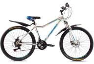 """Купить - велосипед  Premier Spirit Disc 16"""" белый с голуб-красн-зел"""