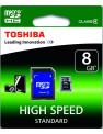 Toshiba microSDHC 8Gb сlass 4+SD adapter (SD-C08GJ(6A)