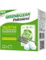 Green&Clean Professional средство для предотвращения образования накипи для стиральных машин, 12 таблеток
