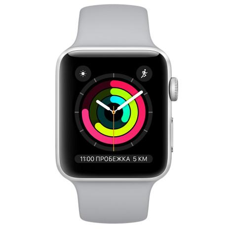 ▷ Смарт-годинник Apple Watch Series 3 42mm Silver Aluminum Case with Fog  Sport Band (MQL02) - купити в ⁕ ALLO.UA ⁕ ціна 2637fb4989163