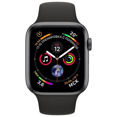 ▷ Смарт-годинник Apple Watch Series 4 44mm Space Grey Aluminium Case with  Black Sport Band (MU6D2) - купити в ⁕ ALLO.UA ⁕ ціна 2059a8402d8d4